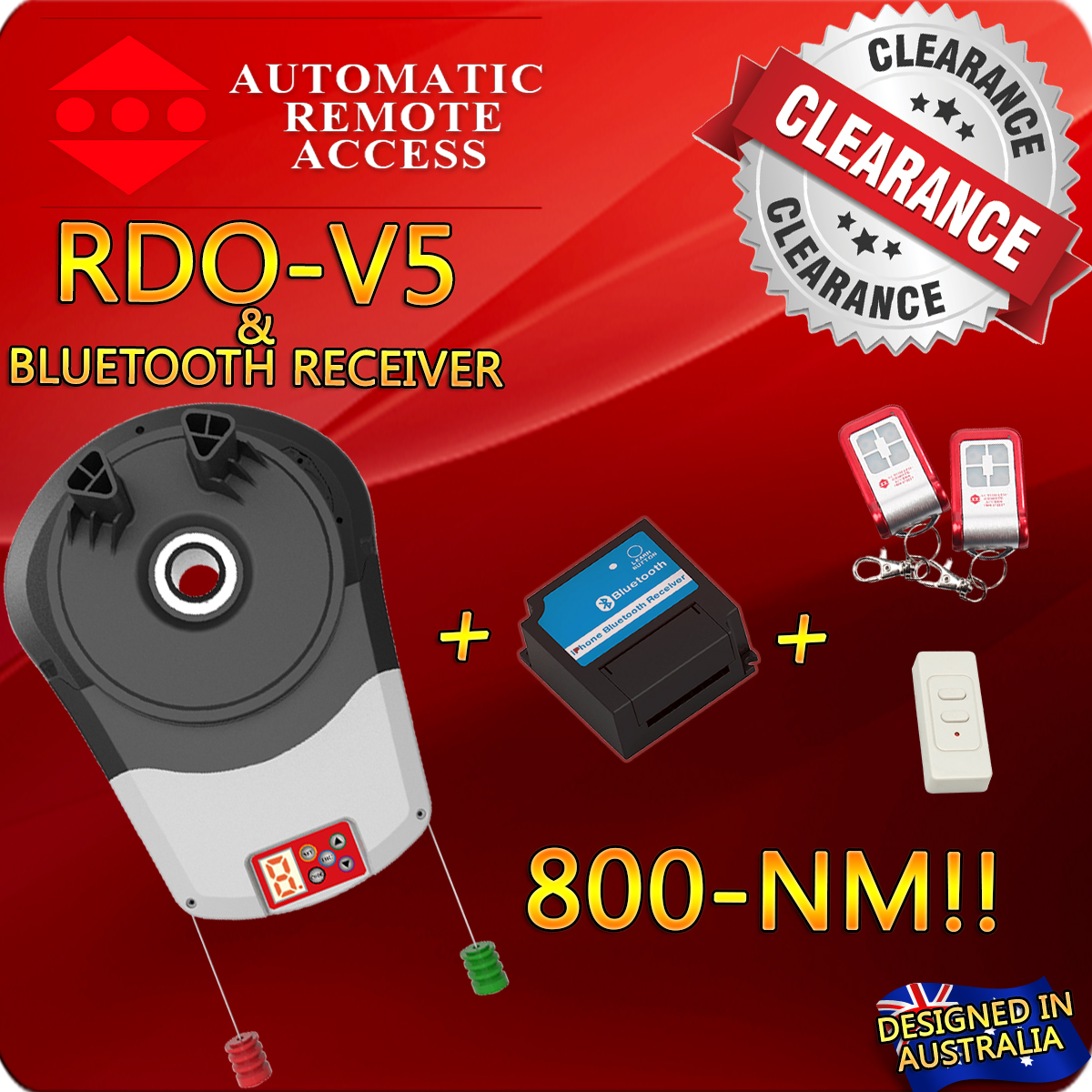 Roller Garage Door Opener Bluetooth Receiver 3 X Remotes