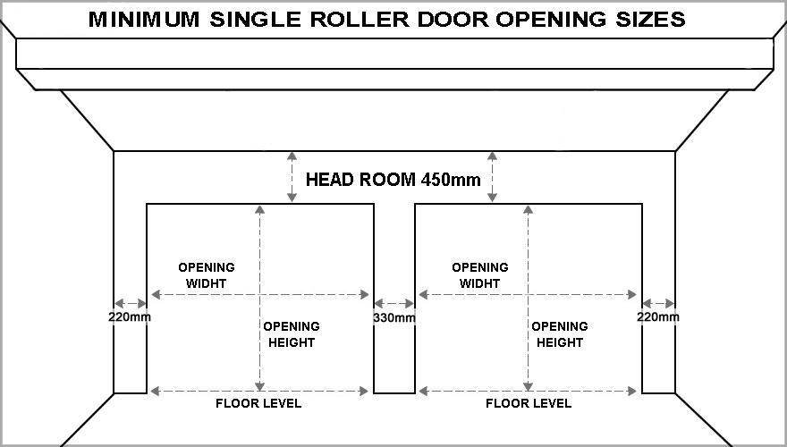 Standard Garage Door Sizes Single Amp Double Roller Doors