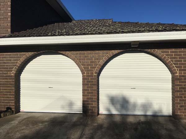 A series surfmist roller garage doors