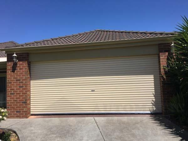 AA series classic cream roller garage door