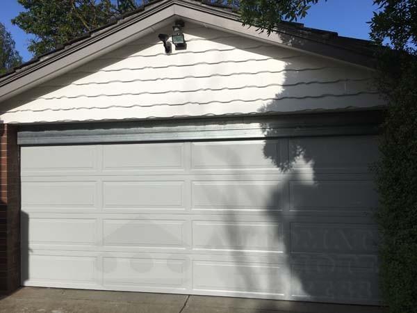 shale grey panel garage door