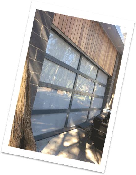 Custom panel garage door - Winchester Style